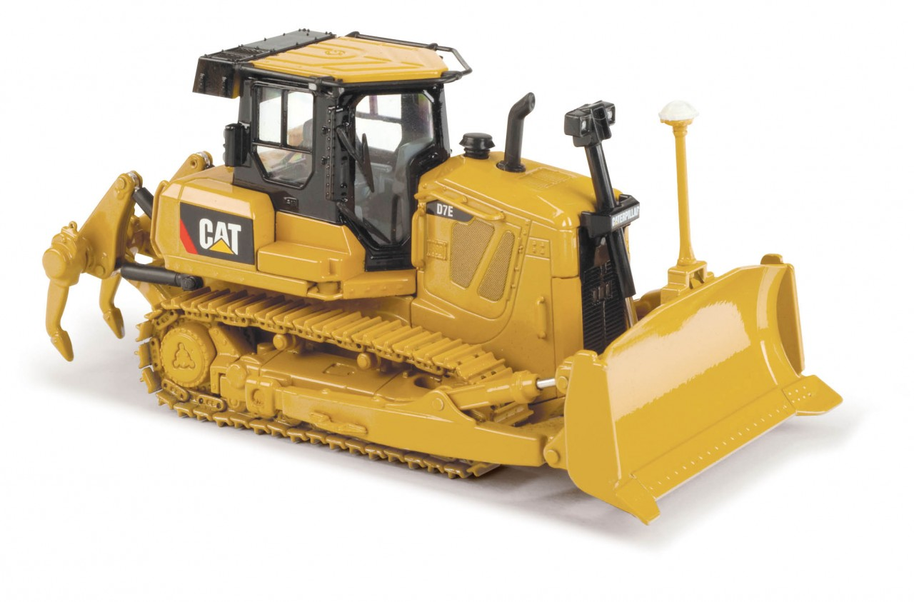 High Line Series Cat D7E Track-Type Tractor with metal tracks and AccuGrade GPS Technology – scale highly detailed diecast model replica featuring realistic.
