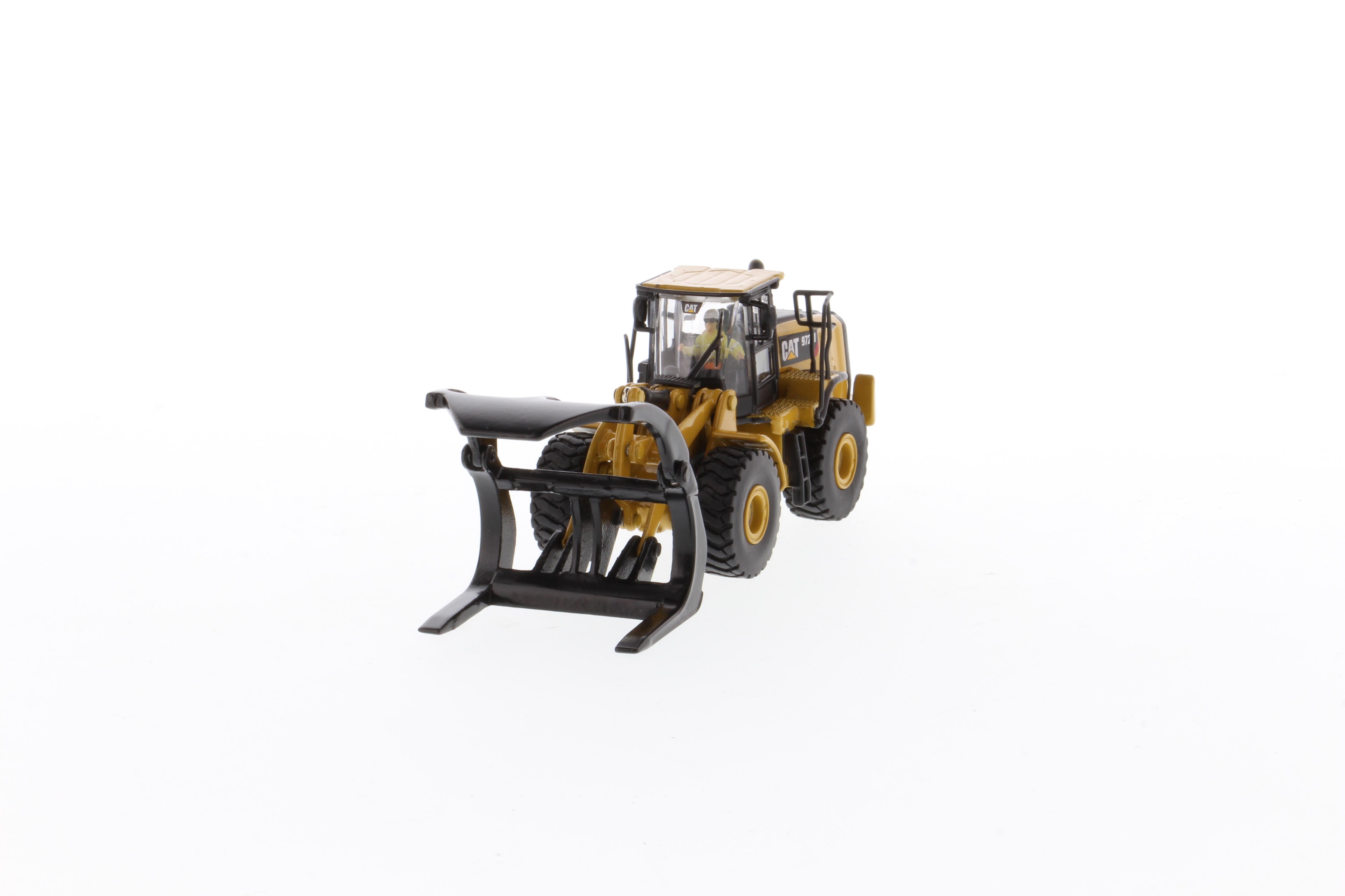 Cat 972m Wheel Loader With Log Forks 85950 1 87 Scale